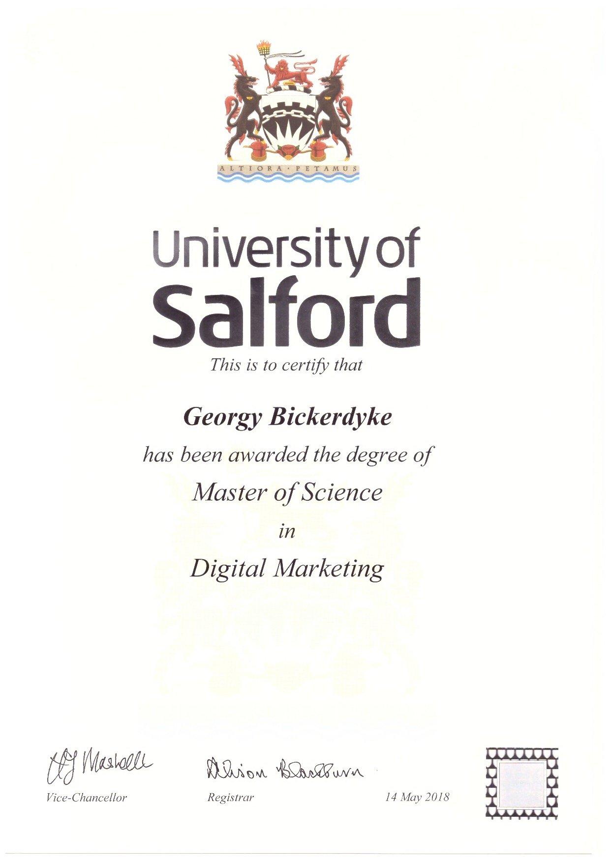 Georgy Bickerdyke MSc Digital Marketing